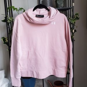 Under Armour Soft Pink Cold-Gear Hoodie | M